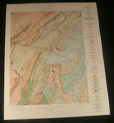 Lot Of 6 Large Color Folding Maps Iowa Geological Survey 1901 Geology Counties Maps, Atlases & Globes