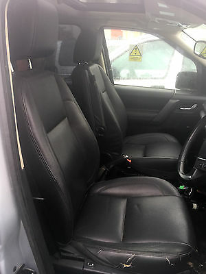 Land Rover Freelander 2 Black Leather Electric Seats Set With Switches