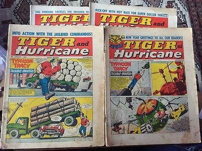 Tiger, featuring Roy of the Rovers. 4x comics complete run from January 1966