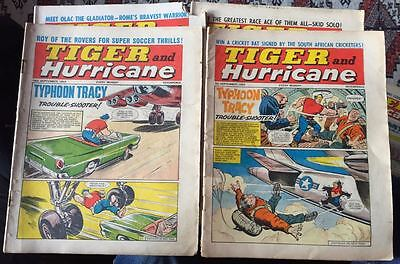 Tiger, featuring Roy of the Rovers. 4x comics selection from Sept/Oct 1965