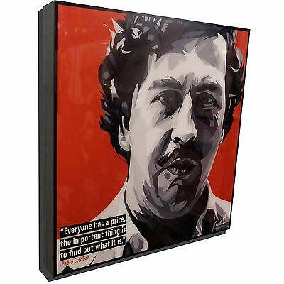 Pablo Escobar Art Poster Painting Print Quote Inspirational Columbia NARCOs