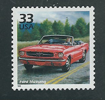 Scott #3188-h...33 Cent...Celebrate..1960's...Ford Mustang...10 Stamps