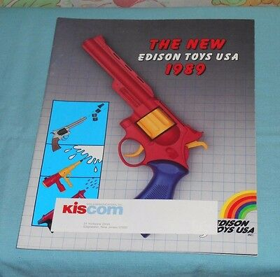 1989 EDISON TOYS toy fair dealers' CATALOG water & cap guns, target games