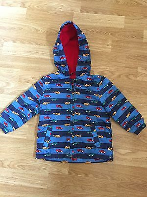 Boys Spring/Summer Raincoat With Cars Design 12- 18 Months