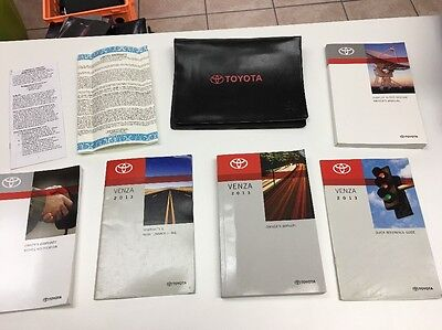 Toyota Venza 2013 Owners Manual Book �� Sale. In Case // Free Shipping/