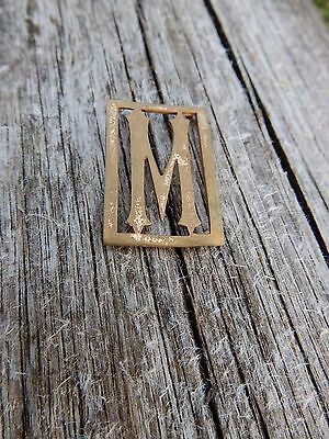 MINIATURE art deco fretwork brass letter m  TO UPCYCLE  LETTER   M  M M M M