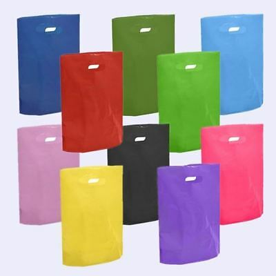 Coloured Plastic Carrier Bags Party Bags Strong Patch Handle Boutique Present