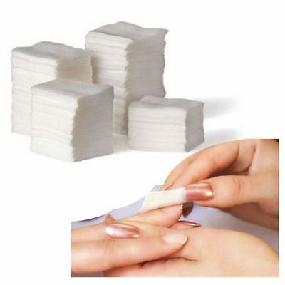 1 Or 900 Lin Nail Wipes Pads Art Gel Acrylic Pedicure Polish Remover Cuticle Uk