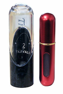 Travalo Excel 5ml Atomiser Red w/ Gold Nozzle Perfume Container Refill Travel