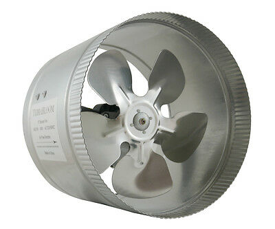 "TerraBloom 8"" Inch Duct Fan, 420 CFM, Inline Booster Fan, Quiet with 6ft Cord"