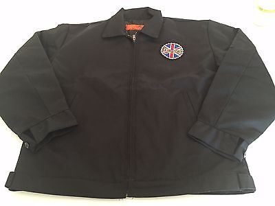 NEW Triumph Motorcycle Work JACKET Dickies Red Kap Black LARGE (42-44) JT22