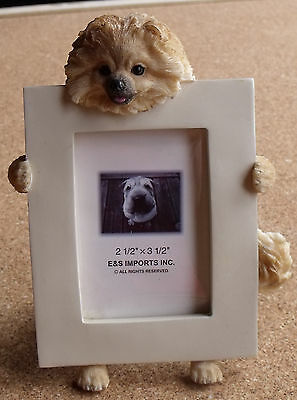 Brown Pomeranian Resin Dimensional Picture Photo Frame