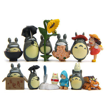 Set of 12 Studio Ghibli My Neighbor Totoro Figures Toy Home Decor Cake Topper