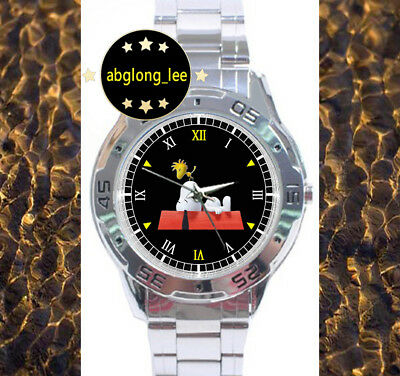 NEW Snoopy and Peanuts CUSTOM CHROME MEN'S WATCH WRISTWATCHES
