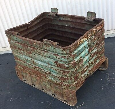 """Vintage!!Stackable Steel Box -Material Handling Bulk Container ID32"""" X 22"""" X 18"""""""