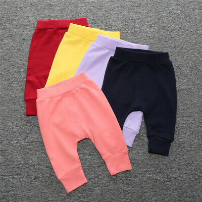 Kids Baby Boys Girls Summer Cotton Long Legging Pants PP Toddler Bloomer Bottoms