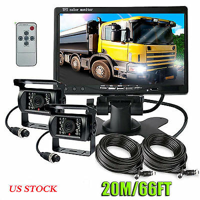 """7"""" DIGITAL BACK UP REAR VIEW Monitor + REVERSING CAMERA SYSTEM FOR TRUCK TRACTOR"""