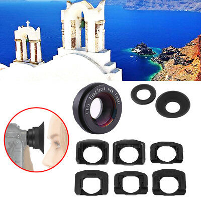 Black 1.51x Focus Viewfinder Eyepiece Eyecup Magnifier For Canon Nikon Camera DY