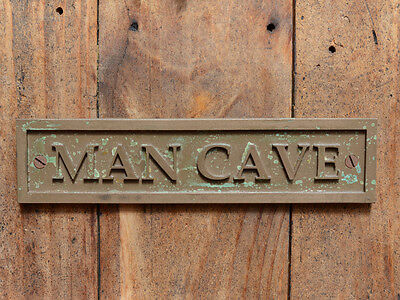 """""""MAN CAVE"""" Funny Wall or Door Plaque for your Garage, Shed, Workshop or Bar"""