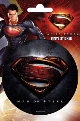 Superman - Man of Steel - Logo - Sticker Aufkleber - Größe Ø9 cm