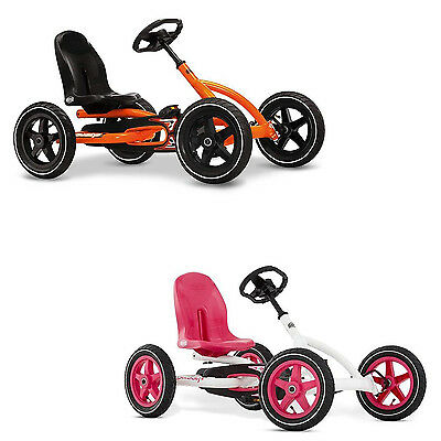 Berg Buddy Kinder-Gokart Orange Weiß Pedal Antrieb