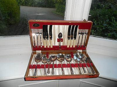 34 Piece Canteen Of Vintage  Silver Plated Canteen Of Cutlery  Thomas Turner