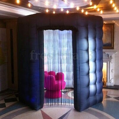 110V OCTAGON Inflatable LED Photo Booth Lighting Tent Wedding Birthday Party Kit
