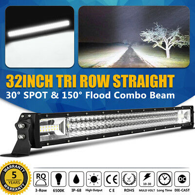 32 Inch 420W LED work Light Bar Offroad Working Spot Flood Combo SUV Boat Truck