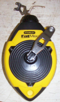 Stanley 47-140 100 Ft. FatMax Chalk Line Reel New & Never Loaded