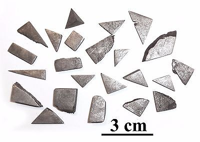 Iron meteorite Muonionalusta, Sweden, lot of small slices and cuts, 50 grams #3