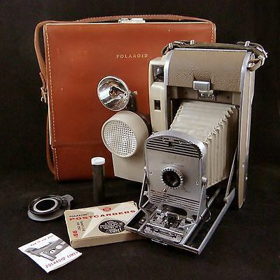 Vintage Polaroid Land Camera 800 with Case & Accessories Wink-Light Flash 1950s
