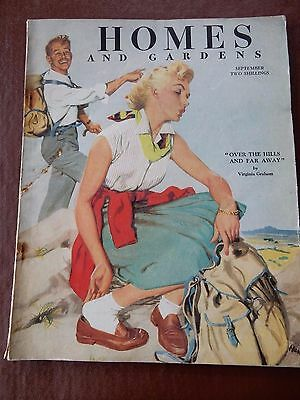 Homes And Gardens Magazine  Sept 1953  Nice Example   Ideal As Gift  Hikers