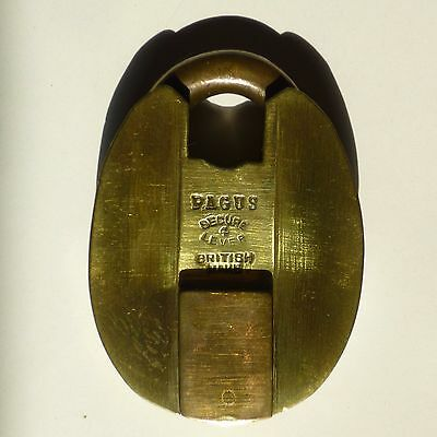 Large Antique Brass and Copper Padlock, No Key
