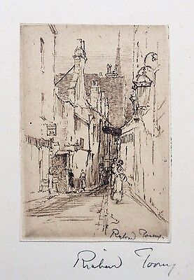 Fine etching by Richard Toovey (1861-1927). Gilbert Street W.C. Cityscape London
