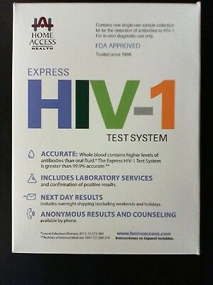 Home Access Health Express HIV-1 Test System - FDA Approved EXP 02/2018