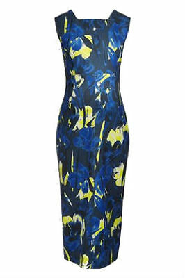 Next Maternity Floral Print Pencil Dress Blue Size 16