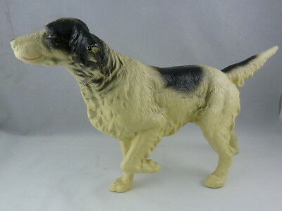 Vintage Cast Iron English Setter Pointer Hunting Dog Door Stop