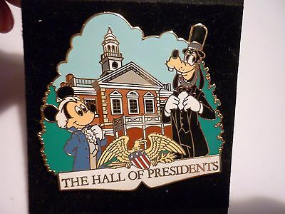 Disney World Hall Of Presidents Pin Mickey Mouse And Goofy New On Card !!!