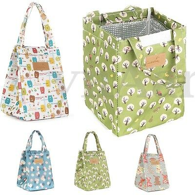 Lunch Box Bag Tote Insulated Thermal Cooler Travel Work School Picnic HandBag