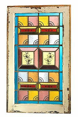 antique multi-colored flashed glass windows circa 1890s