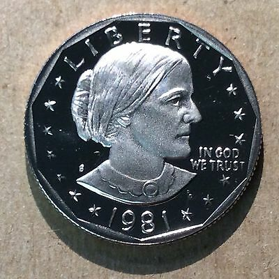 1981-S Type 2 Proof Susan B Anthony Dollar $1