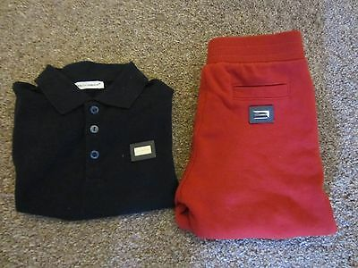 boys dolce & gabbana  polo shirt and jogging pants set  age 18-24 months