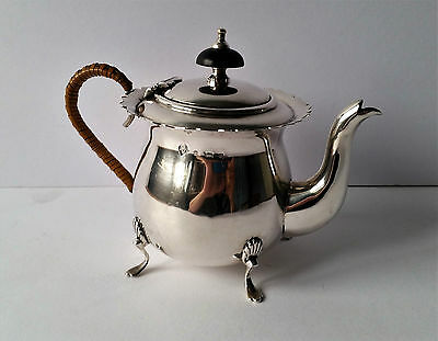 lovely small antique solid silver bachelor teapot 1903 birmingham 230 grams