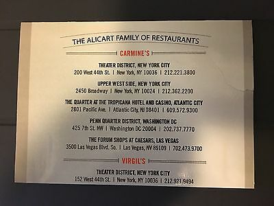 The Alicart Gift Card $100 Value at Carmine's and Virgil's real barbecue