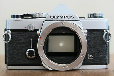 Olympus Om1N Md Camera Body In Black & Silver A Vintage Classic In Ex-Cond & Gwo