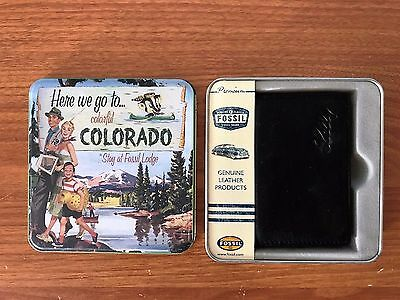 Fossil Deluxe Credit Card Wallet in Collectible Tin Box - NEW AND RARE