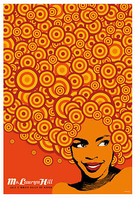 Scrojo Lauryn Hill Belly Up Aspen Colorado 2014 Poster Hill_1407