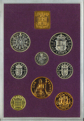 1970 Coinage of Great Britain and Northern Ireland Proof Coins Set Box Papers