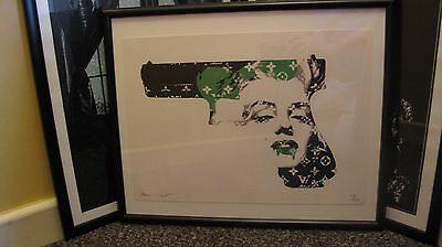 Death NYC Monroe Gun Signed Numbered Limited Edition Framed Print