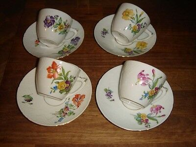 4 Coffee sets # 102 SAXON FLOWER Bing & Grondahl Royal Copenhagen Fact. 1